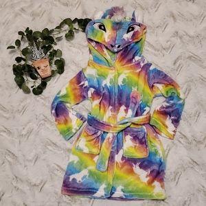 Plush unicorn bathrobe